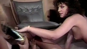 Nina Hartley, Nina DePonca, Jerry Butler in classic love-making curtail