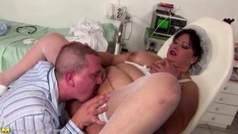 Major mama gets anal creampie and fucking for all holes