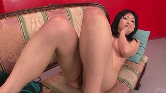 unabashed oriental girl masturbating