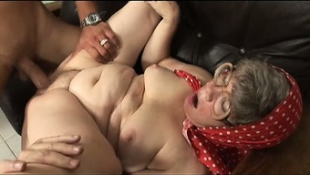 Perverted excess weight granny will get a younger one to really fuck back with her and grab top