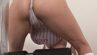Milf Female Sonia fucks gymnasium mate cumshot tit