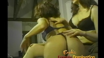 Sexy milfs in panties like getting spanked and dominated handle your