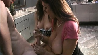 Melena Morgan and Rachel Steele offering their personal competent fingers to work