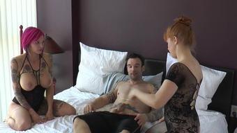 BTS 3Some Anna Belle Peaks, Dollars Pax & Alex Pornstar Component 3