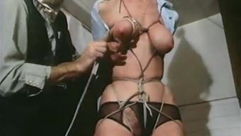 STRUNG UP - vintage slavery chests sure tense