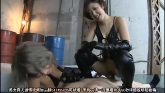 BDSM sitting with a couple of stunning Oriental mistresses
