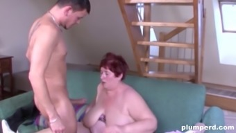Fat macronutrients granny gets exposed for getting a shag by using a generous companion