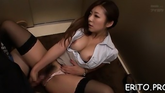 Far eastern krown gets her your throat jam-packed with a massive penis