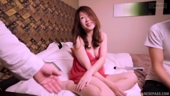 mature japanese people female advances her both legs to produce a lover's manhood