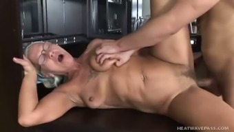 Soiled old senior whore along with unsightly titties gets her brawny crimson fucked christian missionary