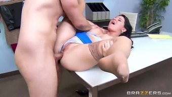 naughty boss messing around together hung assistant in the workplace