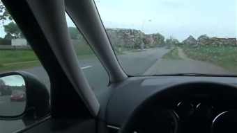 Perverted black April Paisley really savours masturbating in a motor vehicle
