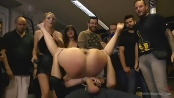 involved liz rainbow gets waxed, ass fucked and fisted in government departments