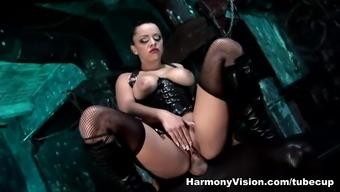Sexiest model Liza Del Sierra in Astonishing Thing, Stockings xxx scene