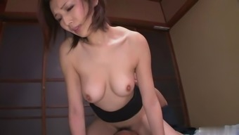 This stunning Japanese damsel is a sexual intercourse equipment and she's got a nice hirsuite pussy