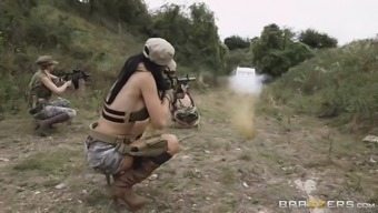 jasmine jae, monique alexander and stella cox are sexy soldiers throughout the vision