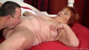 Marsha is typically a perverted gran persuaded and get a hot sex workout