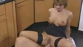 Busty Redheaded German Age Gets Anus