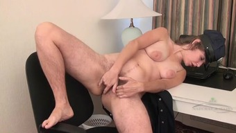 Notably hairy both legs and cherry linked to masturbating mama