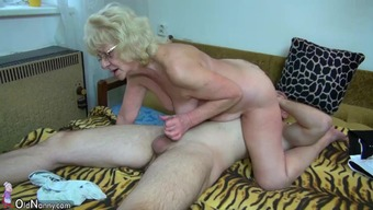 OldNanny man fucking very nice granny with strap-on