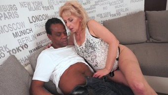Hot granny likes black joystick and he or she gets a great one inside her human body