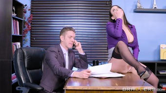 Angela Light for being slutty secretary who exactly gets boned on any counter and sofa