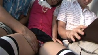 From asia dress slut toward the subway fingered by 2 fellas