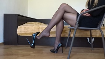 Stickhandling my surpassing stiletto footware dressing black stocking