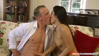 Extended hair Euro elegance knows everything about kissing and fucking