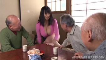 Great titties Japanese milf savours getting her twat mocked along with a vibrator