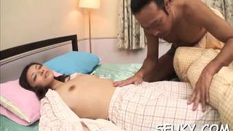 Health professional blows naughty far eastern scones before inspecting her pussy