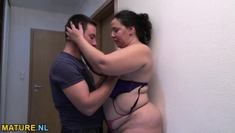Fat and heated mature gets fucked challenging by a little stud