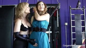 Perverted lesbian love-making with the use of Nina Hartley and Charli Piper