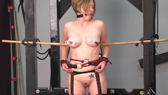 Piece of string slavery suspension is definitely horny