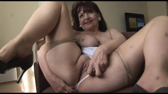 Big tits age damsel in restricted outfit and stockings