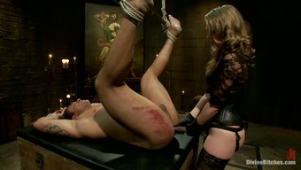 Bounded Man Getting Unjustly Spanked before Pegging by Girlfriend That