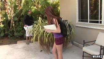 Teenager Tiffany Hazes Heated Jizz Infusion