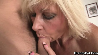 Blond allows him drill her old grasp