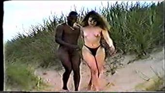 Interracial at the coast.AVI
