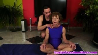 Smalltit granny assfucked after having a blowjob
