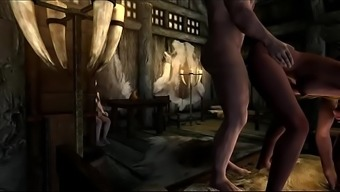 Skyrim Pornography Picture XBOX ONE Mod version 2 or more Succubus Bitches gets their 12 am serving