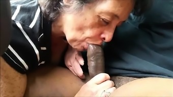 Grow older and big tits beginner wife blowjob and anal creampie