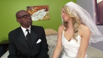 Lively future bride Anikka Albrite slash when using the best one upon the wedding