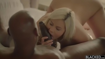 Cute blond gives head and fucks substantial topmost hard on by using desire