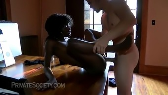 sizzling afro usa young adult from tacoma primary time period on video camera