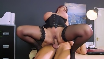 Fairyland intense in the office with rude Emma Rear end