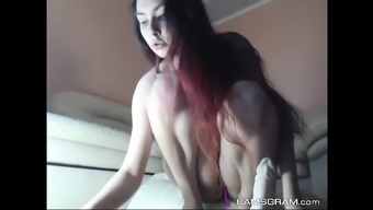 Beauty Redhead Bald Is Dildoing Her Foul Stupid ass