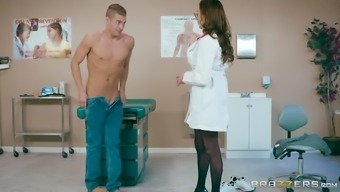 Ariella Ferrera is a very large breasted doctor who might loves riding a cock