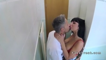 busty individual licked and fucked by health professional