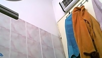 Not my best friends in act while in the shower 5(five) (hidden cam)